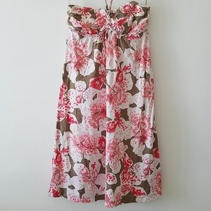 Tommy Bahama cotton stretch dress halter floral